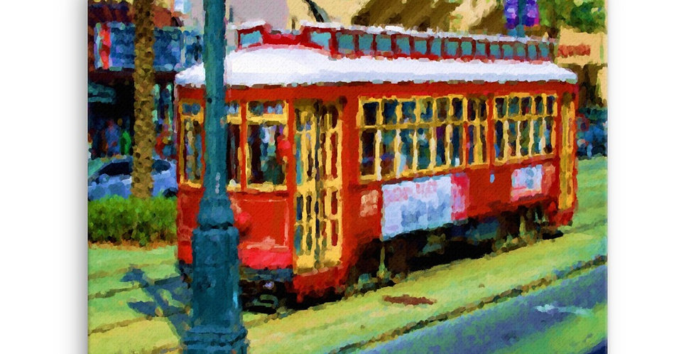 """Canal St. II (Watercolor Sketch)"" Canvas Print"