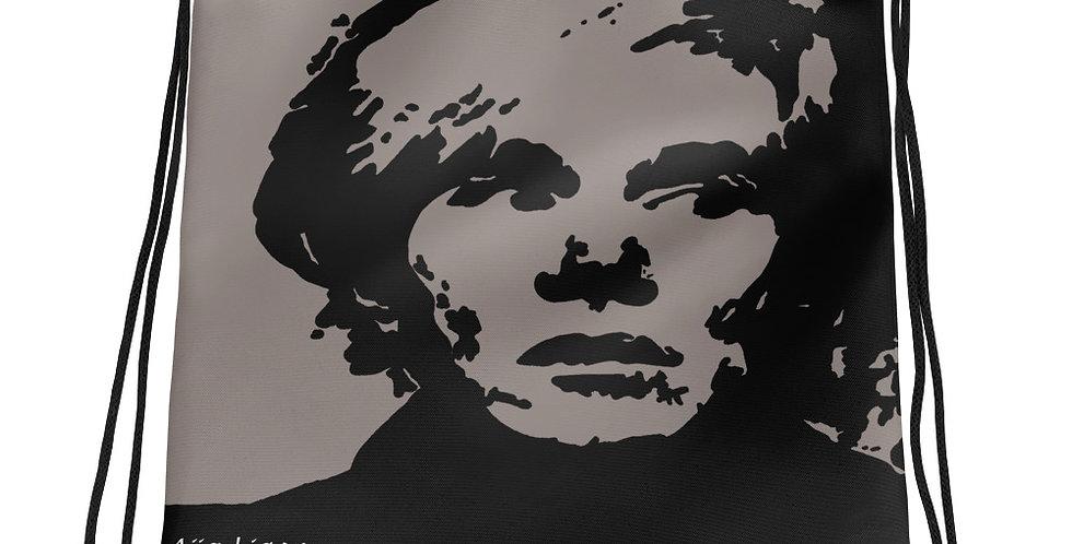 """""""Warhol (Shades Of Grey)"""" Drawstring Bag"""