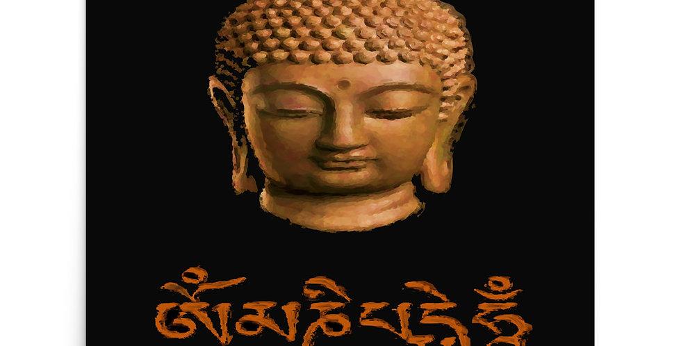 """Wood Buddha (Om Mani)"" Art Print"