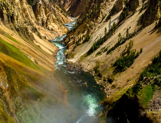 "1182 - ""Yellowstone Canyon Mists"" - Ltd Ed. Metal Print  (assorted sizes)"