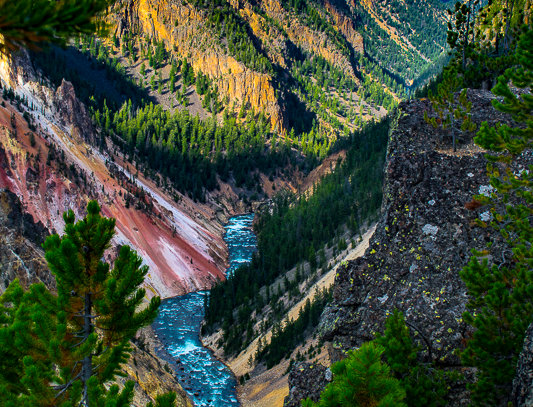 """1214 - """"Yellowstone River Course"""" - Ltd Ed. Metal Print  (assorted sizes)"""