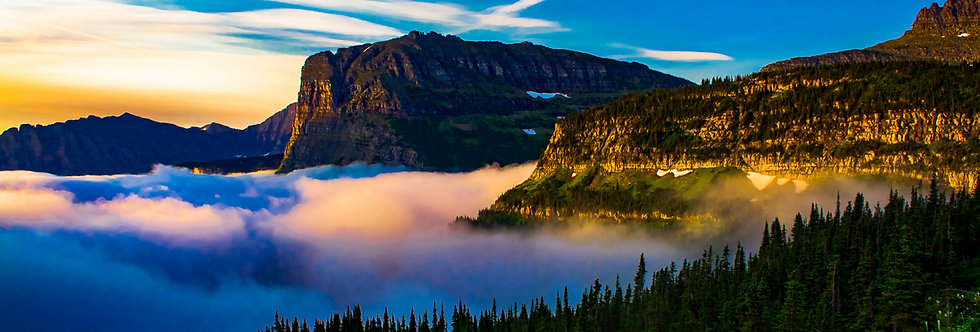 """1023 - """"Valley of the Clouds"""" - Limited Edition Metal Print  (assorted sizes)"""