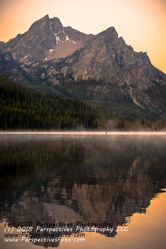 Mount McGown and Stanley Lake, Stanley, Idaho and Paddleboard