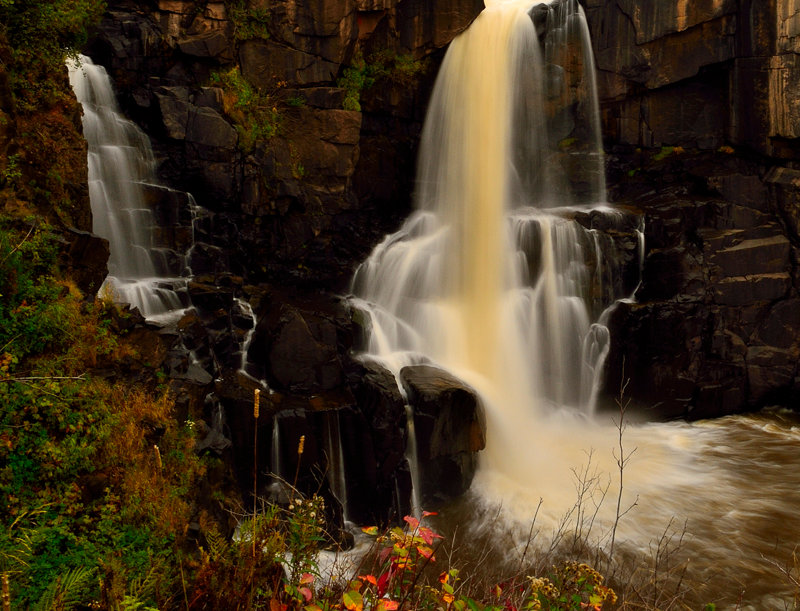 """1054 - """"Upper Falls -Pigeon River"""" - Limited Edition Metal Print  (assorted size"""