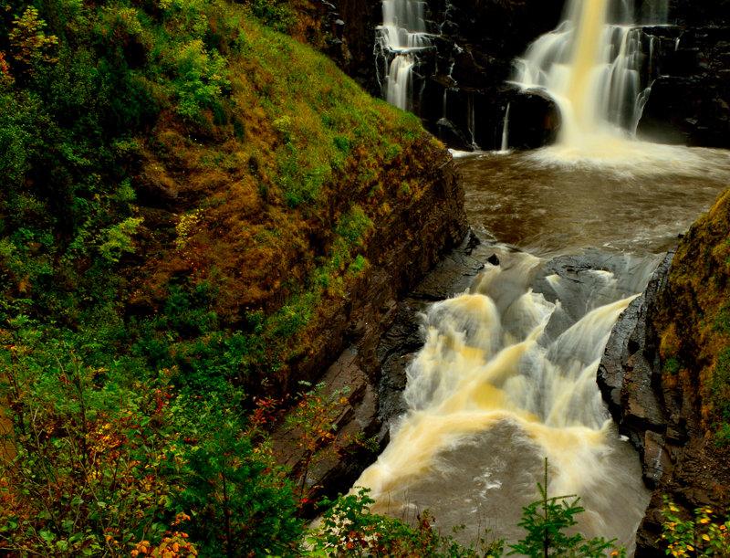 "1056 - ""Pigeon River Falls"" - Ltd Ed. Metal Print  (assorted)"
