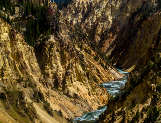 "1184 - ""Yellowstone Canyon #1"" - Ltd Ed. Metal Print  (assorted sizes)"