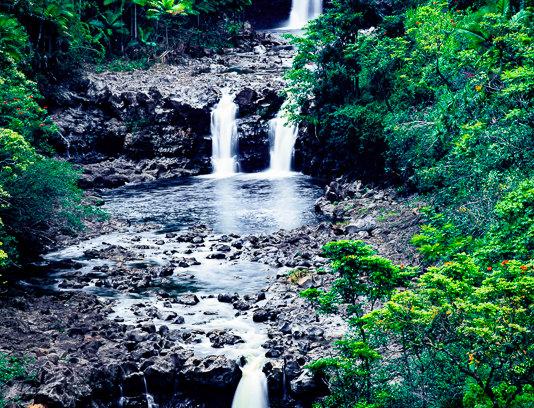 "1296 - ""Umaumau Falls"" - Ltd Ed. Metal Print  (assorted sizes)"