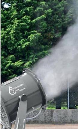 canon brumisation abattage poussière