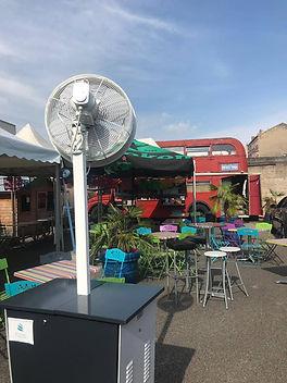 brumisateur terrasse café