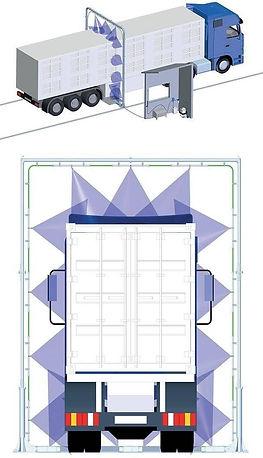 désinfection camion système