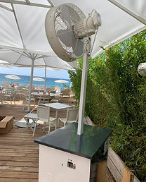 brumisateur terrasse restaurant