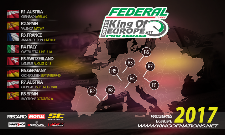 King of Europe Round 1 Moved to Greinbach, Austria