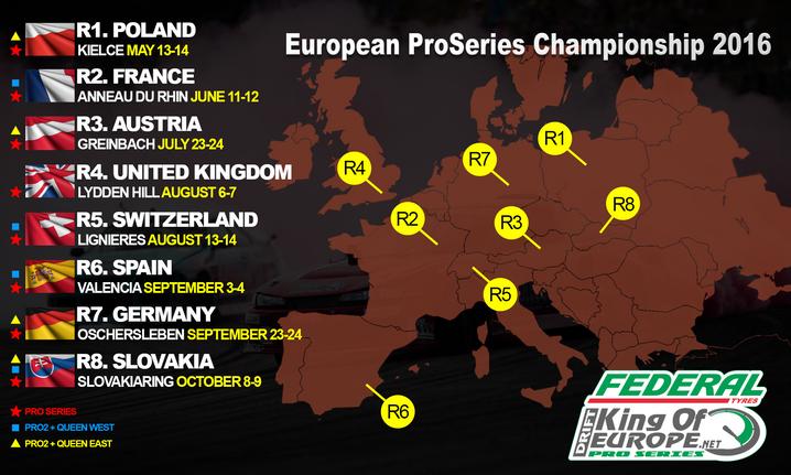 2016 European calendars