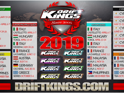 2019 Drift Kings Calendar