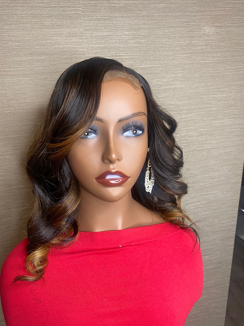 """Raven - 12"""" Body Wave on 5x5 HD Closure on a Small Medical Cap"""