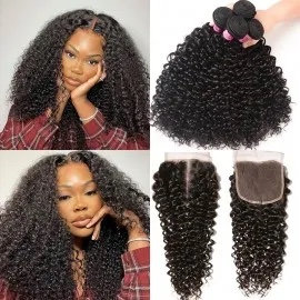 THE ELEANOR COLLECTION Deep Curly Hair Bundles