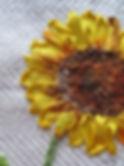Zonnebloem in zijdelint