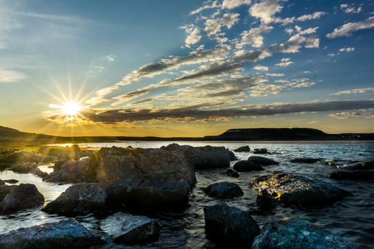 Midnight Sun over the Tundra