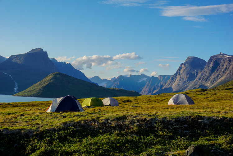 Camping Below the Peaks of Auyuittuq National Park