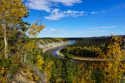 Autumn along the Hay River Valley