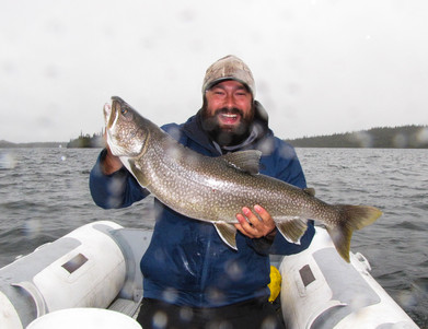 Big Smiles and East Arm Lake Trout