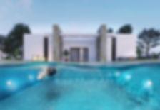 Infografía 3D piscina