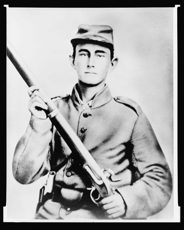 Photograph of an unidentified Confederate soldier.