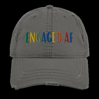 """""""Engaged AF"""" Distressed Dad Hat"""