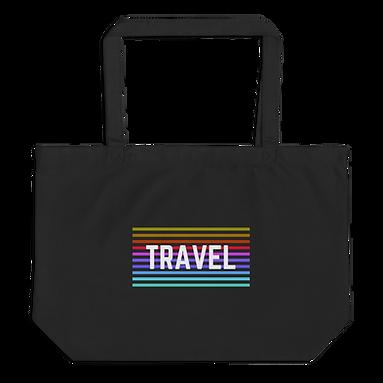"""Travel"" Large organic tote bag"
