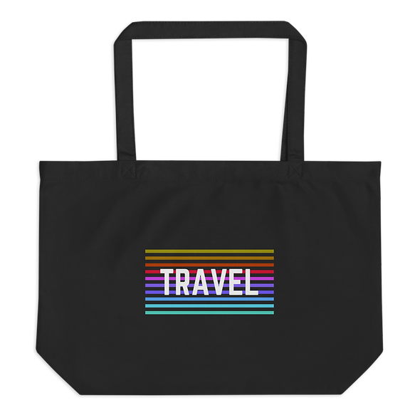 """Travel"" Large organic tote bag"