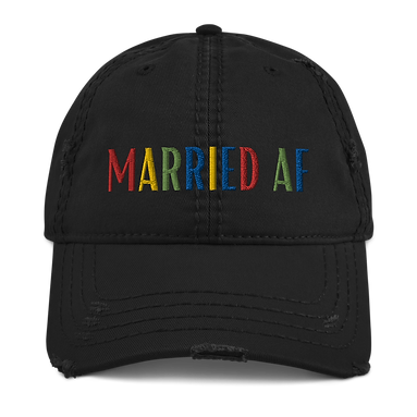 """Married AF"" Distressed Dad Hat"