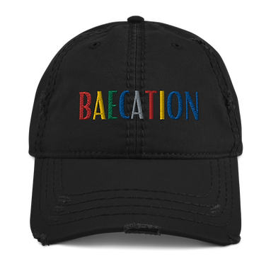 Baecation Distressed Dad Hat