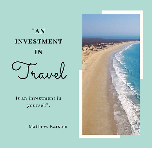 Investment in travel is an investment in