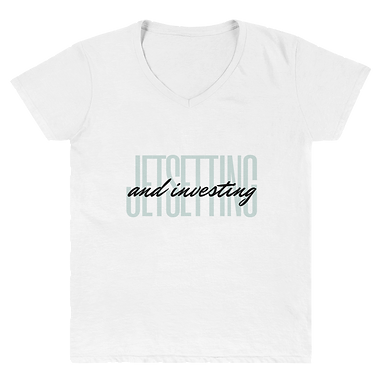 Jetsetting & Investing Women's Casual V-Neck Shirt