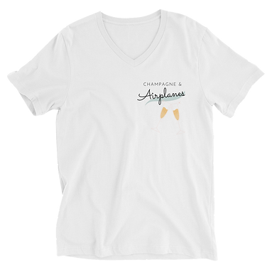 Champagne & Airplanes Unisex Comfy Tee