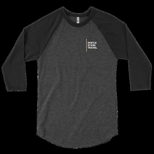 Hustle. Stash, Travel Men's 3/4 sleeve raglan shirt