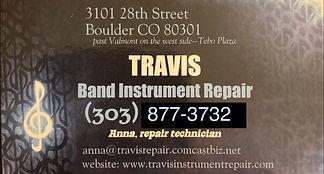 Travis Band Instrument Repair Business C
