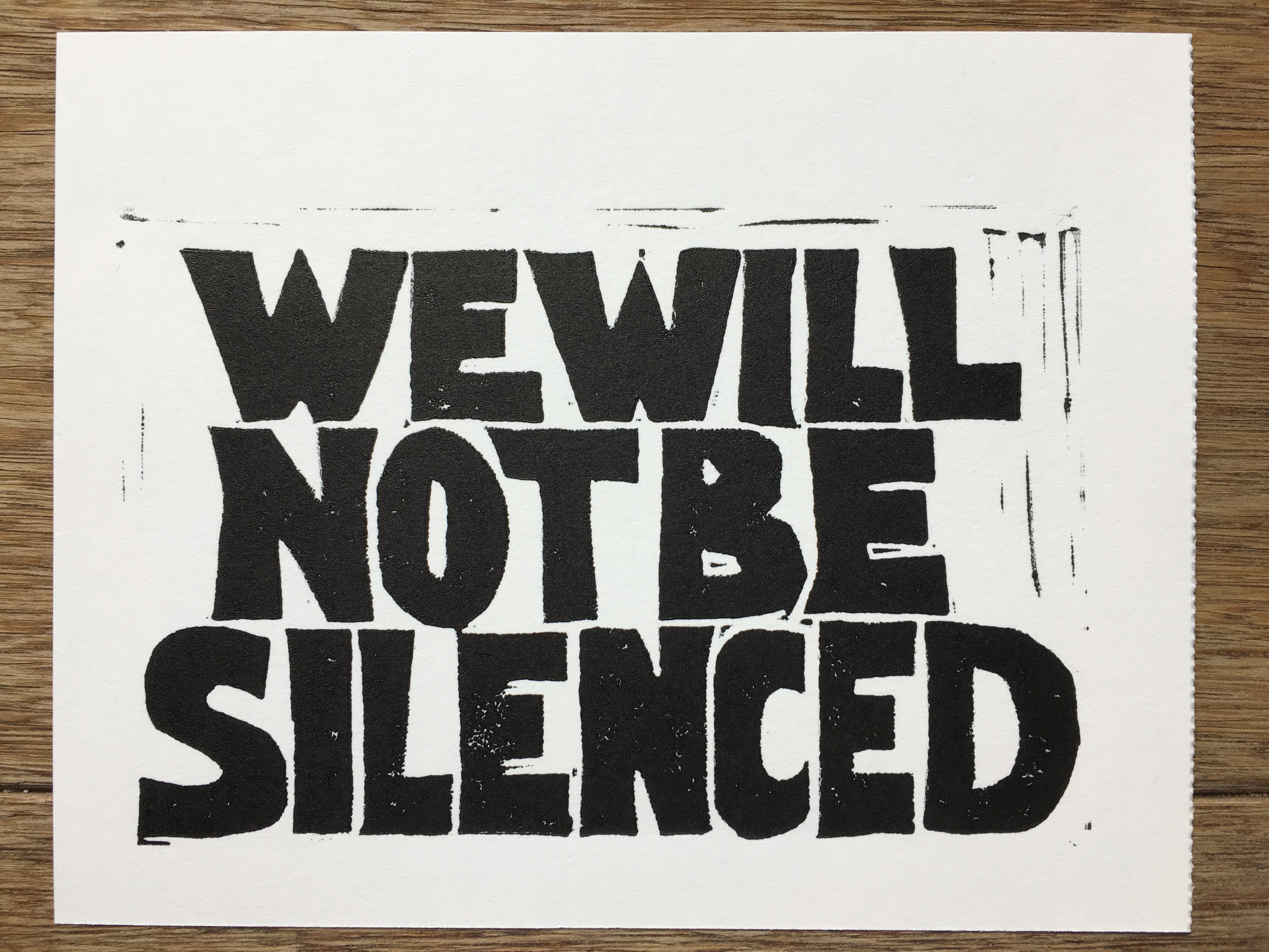 Protest Postcards, We will not be silenced