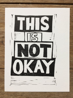 Protest Postcards, This is not okay