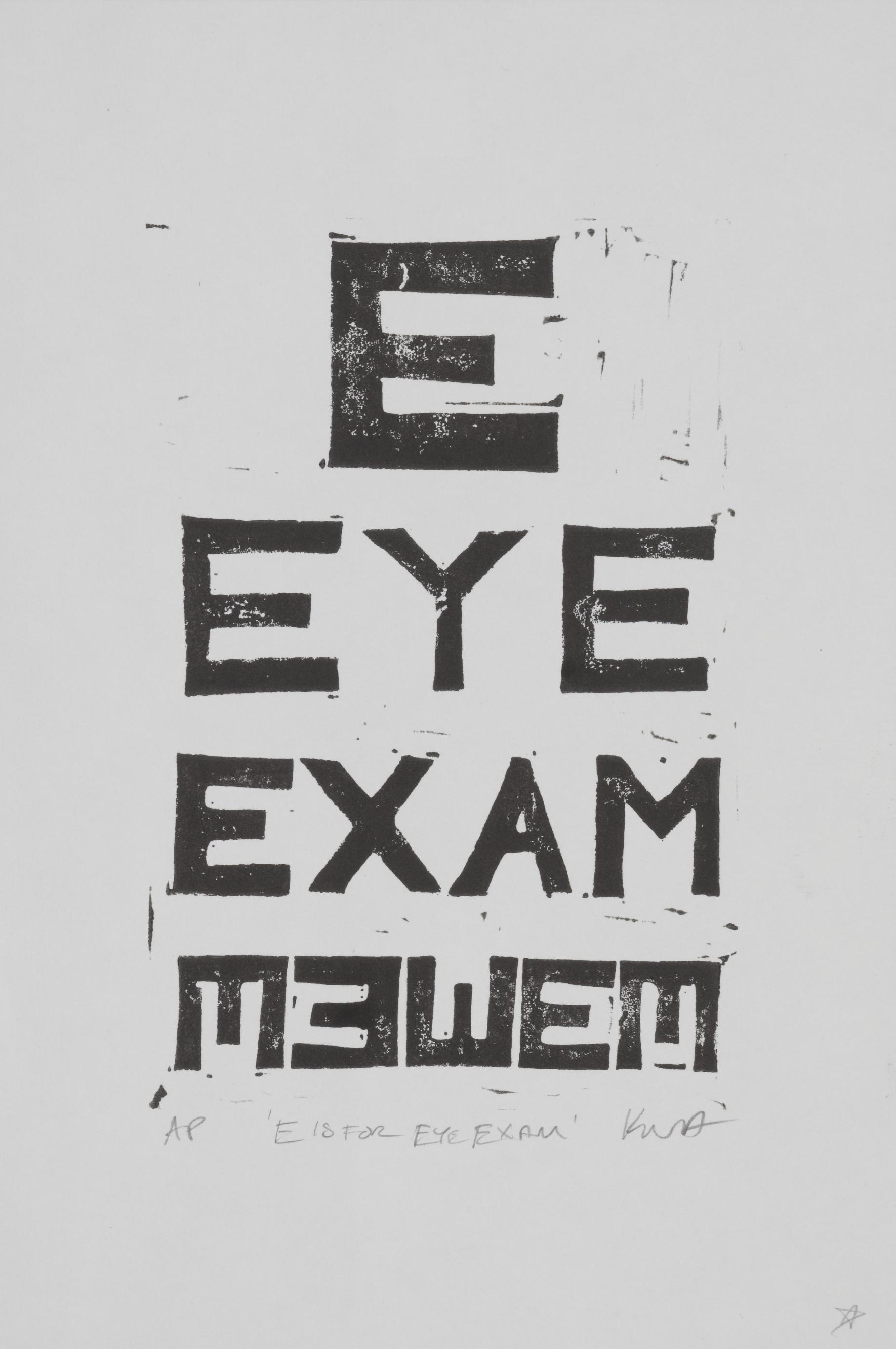 E is for Eye exam
