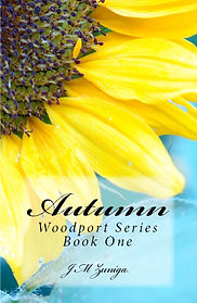 Book cover Autumn. Bright yellow sunflower with turquoise background.