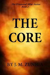 Book cover The Core. Orange explosion.