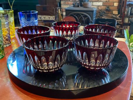 昭和ガラスの冷茶碗