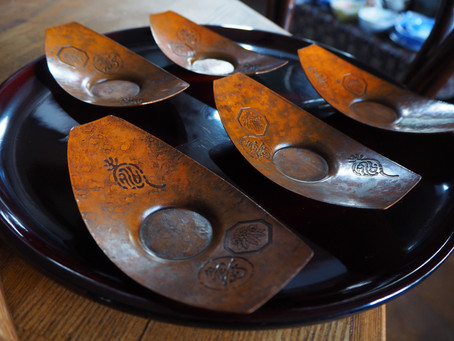 Japanese tea saucers with age