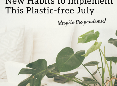 Easy new habits you could implement this Plastic-free July (despite the pandemic)