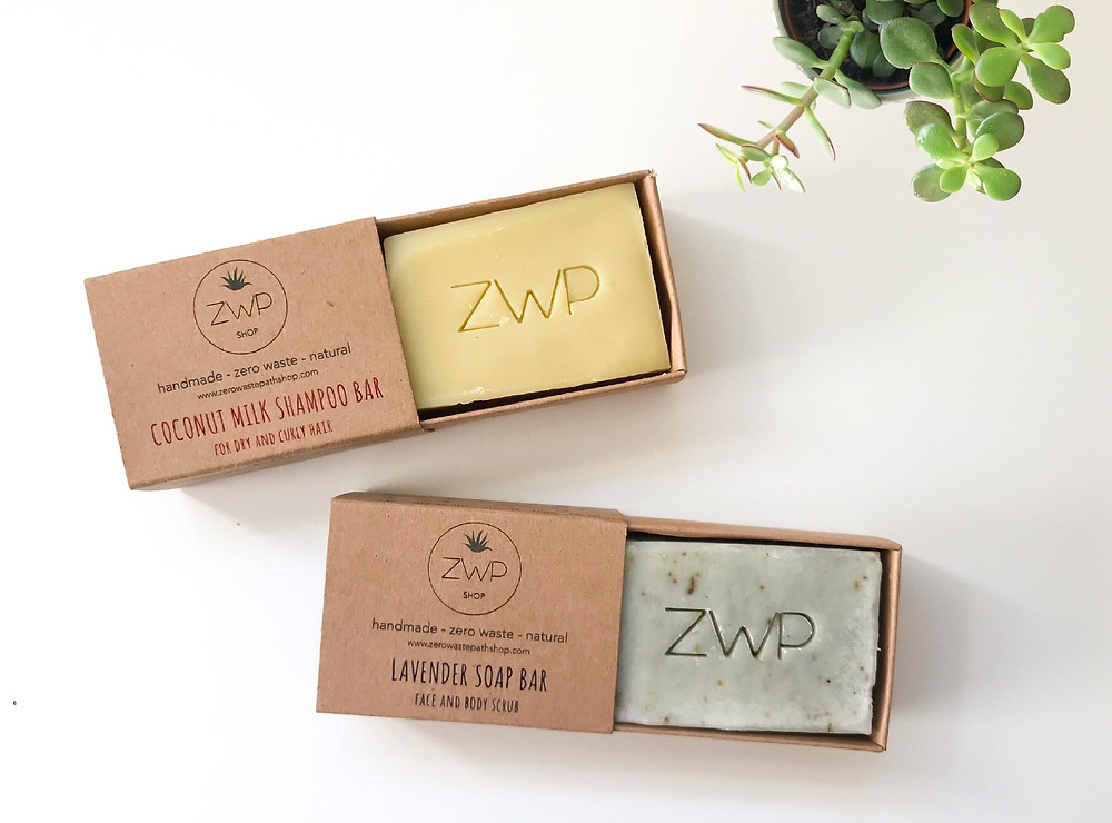 zero waste path shop zero-waste soap and shampoo bars featured on the sustainable collective blog