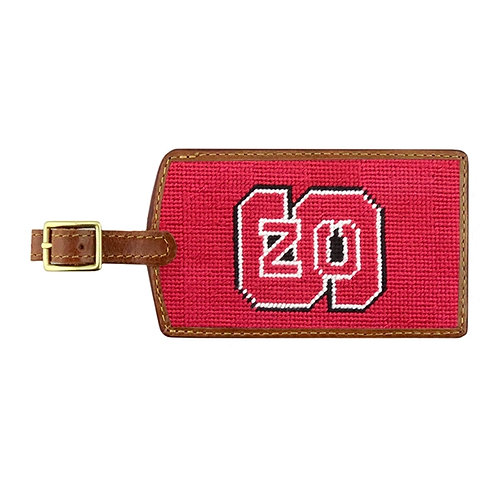Smathers & Branson - NC State Needlepoint Luggage Tag