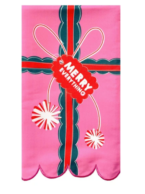 """Packed Party """"Merry Everything"""" Tea Towel"""
