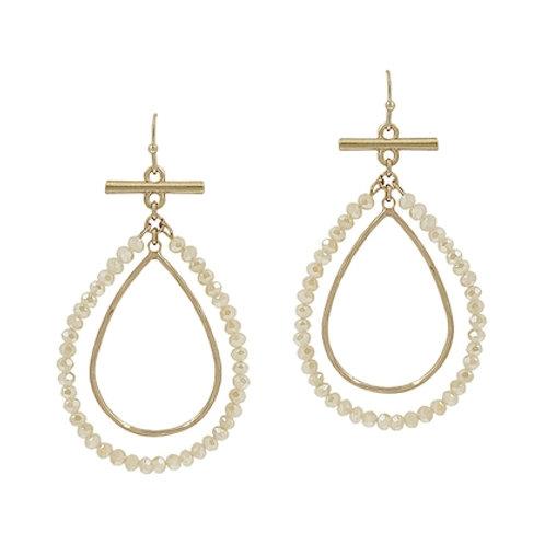 Meghan Browne Ora White Opal Earring