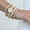 Thumbnail: enewton - Gold 4mm Bead Bracelet with Cross Charm